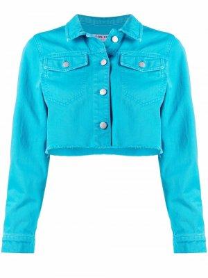 Укороченная джинсовая куртка Stassie ICON DENIM. Цвет: синий