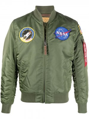 Бомбер NASA MA-1 Alpha Industries. Цвет: зеленый