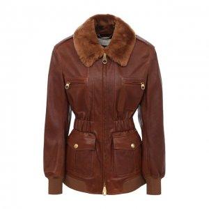 Кожаная куртка Chloé. Цвет: коричневый