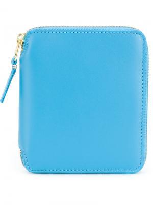 Бумажник с круговой застежкой-молнией Comme Des Garçons Wallet. Цвет: синий