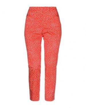 Повседневные брюки CAPPELLINI by PESERICO. Цвет: оранжевый