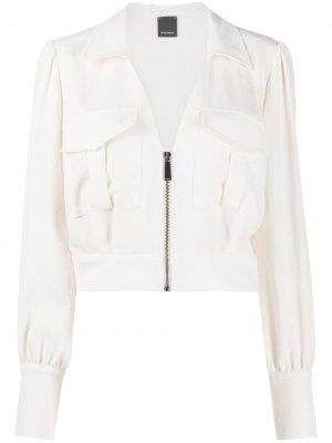Легкая куртка на молнии Pinko. Цвет: белый
