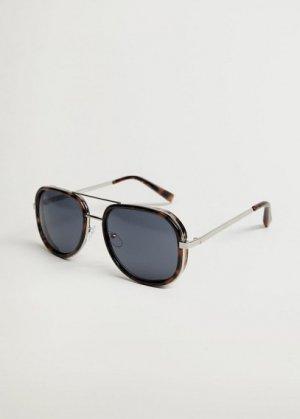 Солнцезащитные очки с металлическим мостом - Paul Mango. Цвет: шоколадный