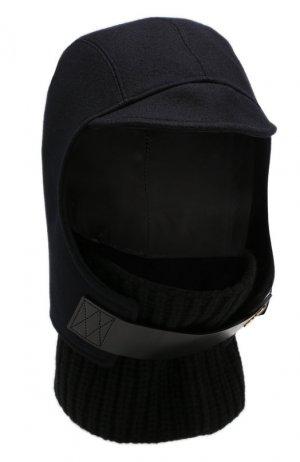 Шерстяная шапка-балаклава Sacai. Цвет: синий