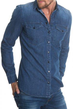 Рубашка BIG STAR. Цвет: синий
