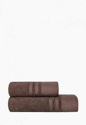 Набор полотенец Estia. Цвет: коричневый