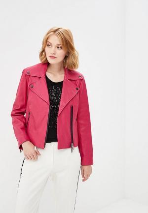 Куртка кожаная Madeleine. Цвет: розовый