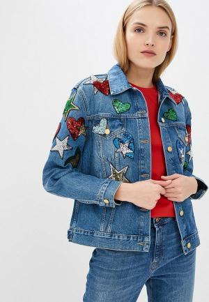 Куртка джинсовая Escada Sport. Цвет: синий