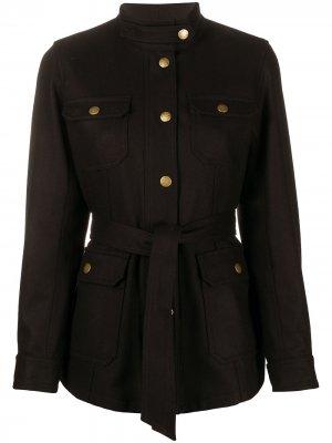 Куртка с карманами и поясом A.P.C.. Цвет: черный