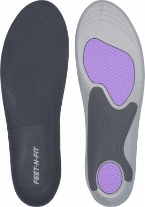 Стельки женские Feet-n-Fit Active Support, размер 36-40. Цвет: серый
