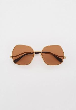 Очки солнцезащитные Gucci GG0972S. Цвет: золотой