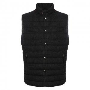 Пуховый жилет Ralph Lauren. Цвет: серый