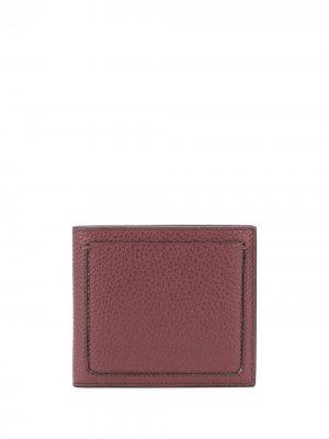 Фактурный бумажник Ermenegildo Zegna. Цвет: красный