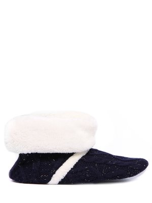 Тапочки-угги меховые для дома LE CHAT. Цвет: белый