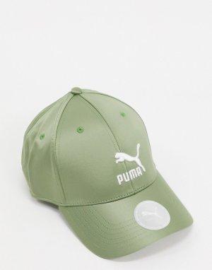 Атласная бейсболка зеленого цвета -Зеленый Puma