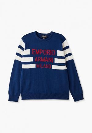 Джемпер Emporio Armani. Цвет: синий