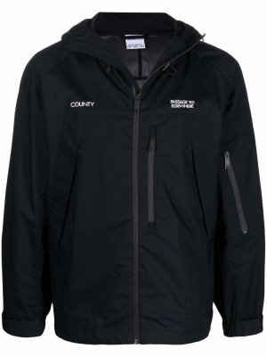 Легкая куртка с вышитым логотипом Marcelo Burlon County of Milan. Цвет: черный