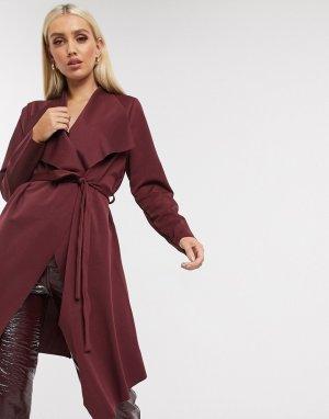 Бордовая куртка -Красный Lipsy