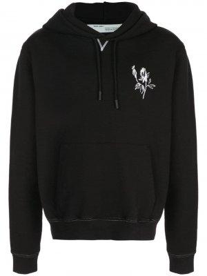 Contrasting stencil hoodie Off-White. Цвет: черный