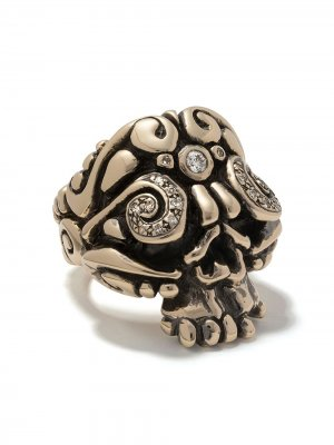 Кольцо Skull Duffy Jewellery. Цвет: золотистый