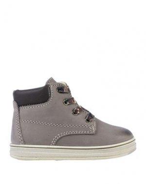 Полусапоги и высокие ботинки PRIMIGI. Цвет: серый