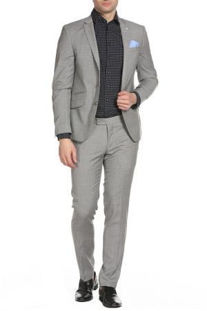 Костюм: брюки, пиджак STONES. Цвет: бежевый