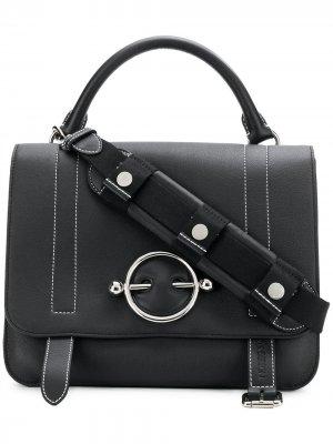 Большая сумка-сэтчел Disc JW Anderson. Цвет: черный