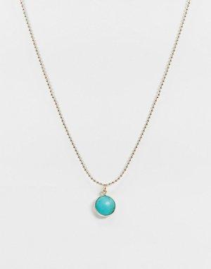 Ожерелье-чокер с бирюзой -Золотой Liars & Lovers