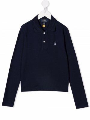 Рубашка поло Polo Pony Ralph Lauren Kids. Цвет: синий