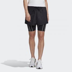 Шорты для фитнеса 2-в-1 Athletics adidas. Цвет: черный