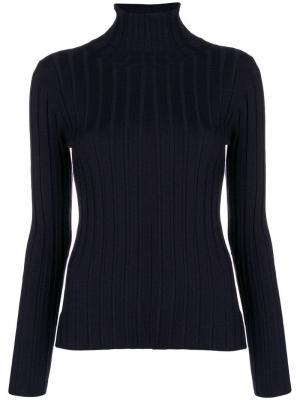Ribbed turtleneck sweater Aspesi. Цвет: синий
