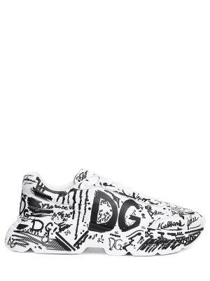 Кроссовки кожаные Daymaster DOLCE & GABBANA