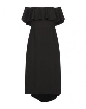Платье миди HALSTON. Цвет: черный