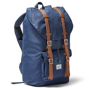 Рюкзак LITTLE AMERICA 25Л с карманом для ноутбука HERSCHEL. Цвет: темно-синий