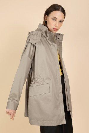 Куртка-парка средней длины VASSA&Co. Цвет: бежевый