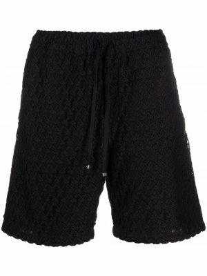 Фактурные шорты с кулиской AMIRI. Цвет: черный