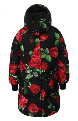 Пуховик с капюшоном Dolce & Gabbana. Цвет: красный