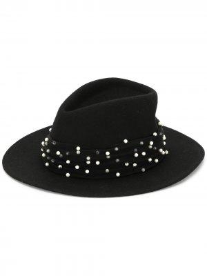 Шляпа федора Blaine Eugenia Kim. Цвет: черный