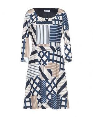 Короткое платье EDAS. Цвет: синий