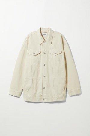 Джинсовая куртка Giga Weekday. Цвет: белый
