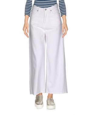 Джинсовые брюки-капри DR. DENIM JEANSMAKERS. Цвет: белый