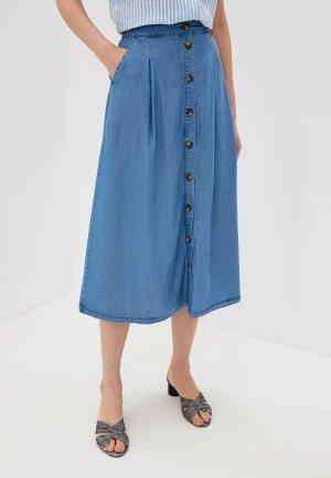 Юбка джинсовая b.young. Цвет: синий