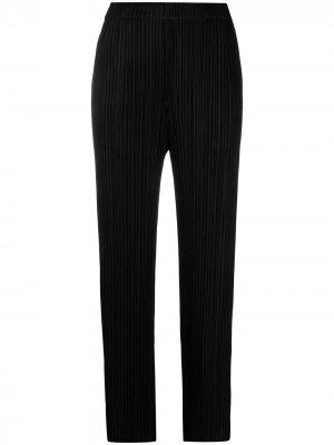 Плиссированные брюки прямого кроя Pleats Please Issey Miyake. Цвет: черный