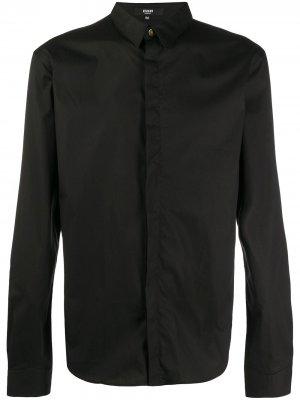 Рубашка с камуфляжным принтом Versus. Цвет: черный