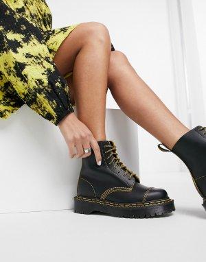 Черные ботинки с двойными швами 1460 Pascal Bex-Черный Dr Martens