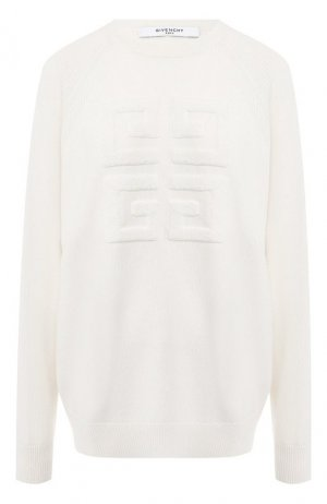 Кашемировый пуловер Givenchy. Цвет: белый