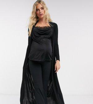 Черная куртка макси от комплекта Club L London Maternity-Черный Maternity
