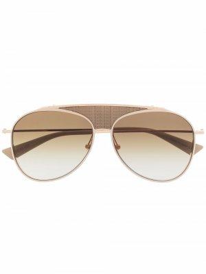 Солнцезащитные очки-авиаторы Funker Christian Roth. Цвет: золотистый