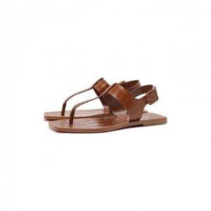 Кожаные сандалии Cubongo Christian Louboutin. Цвет: коричневый