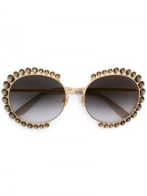 Embellished round frame sunglasses Elie Saab